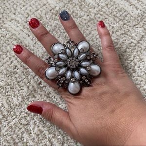 Jumbo Bling Flower Ring